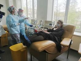 В Санкт-Петербурге получены первые успешные результаты лечения плазмой крови пациентов с COVID-19 рисунок